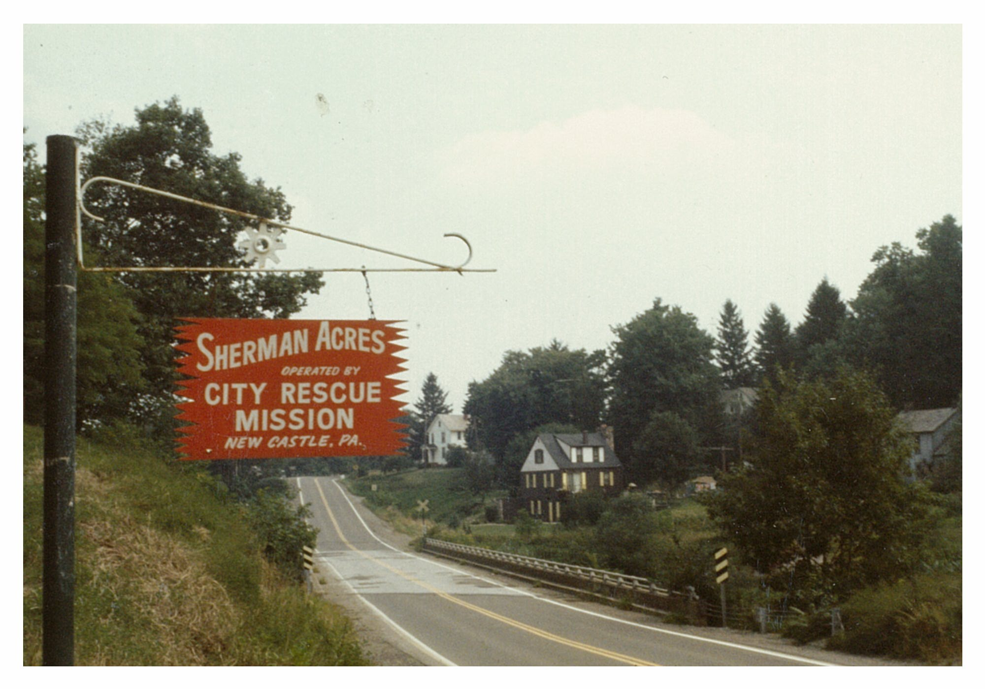Sherman Acres Camp Sign