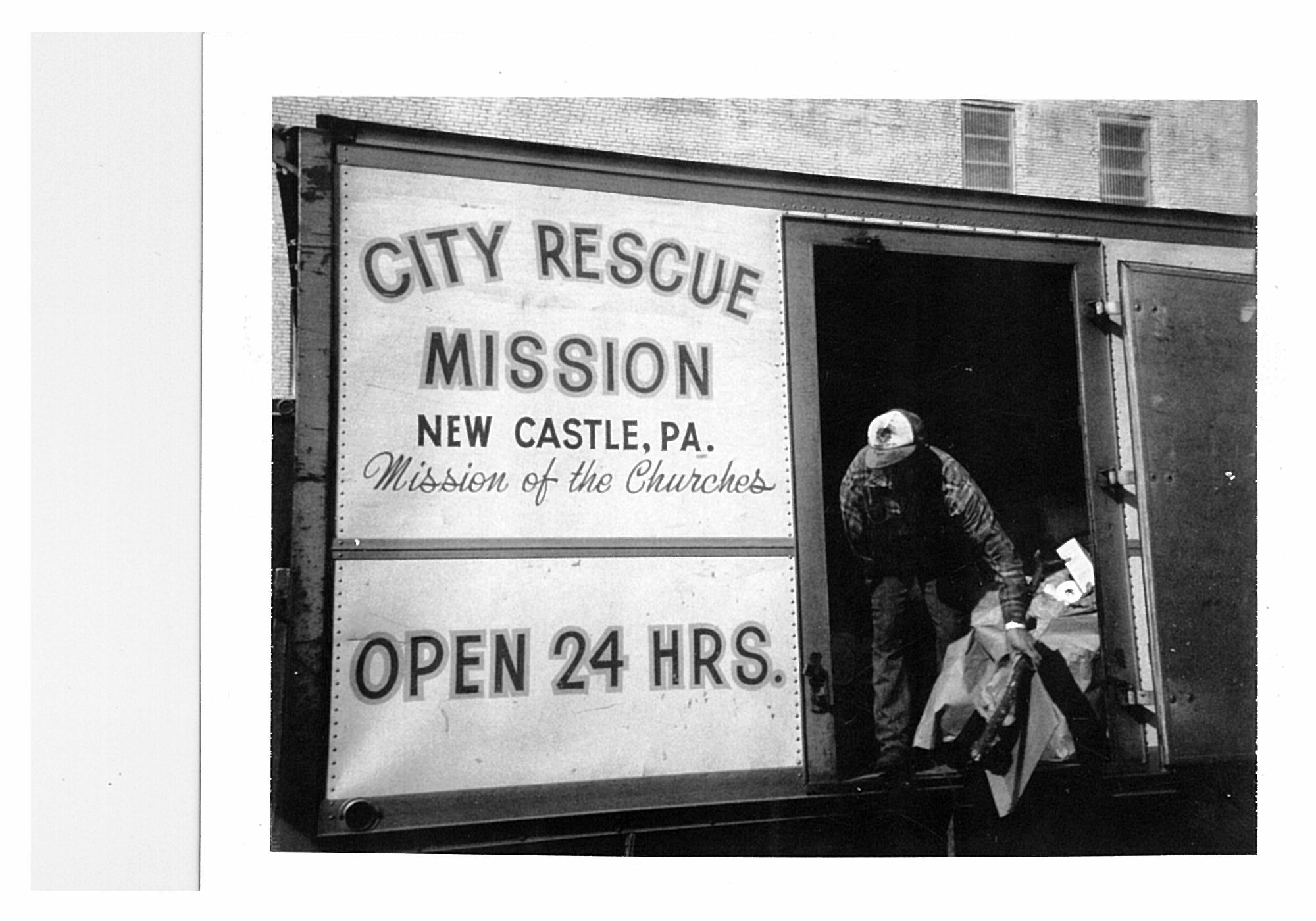 City Rescue Mission Truck Sign